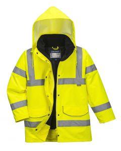 Hi Vis Ladies Traffic Jacket Yellow Size S