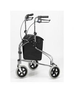 Days Tri Wheel Walker with Loop Lockable Brakes, Chrome