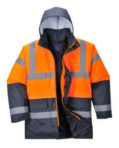 Hi-Vis Coat, Orange/Navy Size 2XL