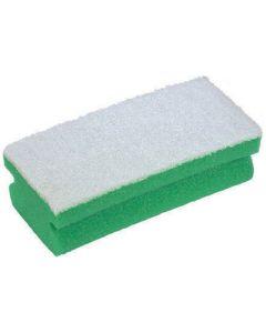 Soft Easigrip Sponge Scouring Pad, Green/White